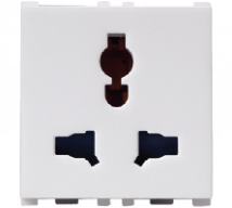 Vision (Panasonic) 6/10/13A, 2/3  Pin, 2 Module Combi Socket - Features, Specifications - Sockets Online India - Anchor by Panasonic