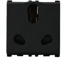 Vision (Panasonic) 16/6A, 3 Pin, 2 Module Twin Black Socket - Features, Specifications - Sockets Online India - Anchor by Panasonic