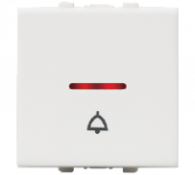 Vision (Panasonic) 10A, 250V, 1 Way, 2 Module Bell Push Switches With LED Indicator - Features, Specifications - Switches Online India - Anchor by Panasonic