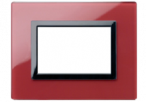 Glass Clear Pompeian Red  Plate- RPL | Anchor Electricals