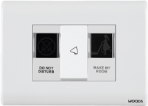 Woods Indicator Marked Do Not Disturb/Make My Room Features, Specifications - Hospitality Range Online India - Panasonic Life Solutions India