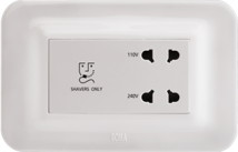 Roma 20VA, Shaver Socket with Transformer (With 4M Curvy Plate), White - Features, Specifications - Hospitality Range  Online India - Anchor by Panasonic
