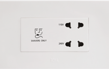 Roma 20VA, Shaver Socket with Transformer (With 4M Square Plate), White - Features, Specifications - Hospitality Range  Online India - Anchor by Panasonic