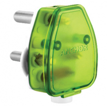 16A 3 Pin top White Base + Green Top Plug Tops - Features, Specifications Online India - Anchor by Panasonic