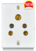 Penta  6A,  2-in-1 Socket, Urea Back piece (IP 20) - Features, Specifications - Socket Online India - Anchor by Panasonic