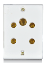 Penta 6A,  Multi Socket Pin for 2 & 3 Pin  - Features, Specifications - Socket Online India - Anchor by Panasonic