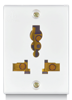 Penta 6A & 13A, Combi Soc ( for all kind of pins) - Features, Specifications - Socket Online India - Anchor by Panasonic