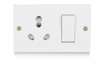 Penta 20A & 10A, Uni Switch Socket Combined Units with (2 Fixing Holes) - Features, Specifications - Others Online India - Anchor by Panasonic