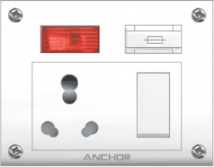 Penta 20A & 10A, Euro Capton 5-in-1 (4 fixing holes) - Features, Specifications - Switches Online India - Anchor by Panasonic