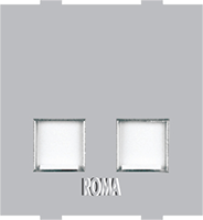 Roma Silver RJ 11 Telephone Jack Double With Shutter