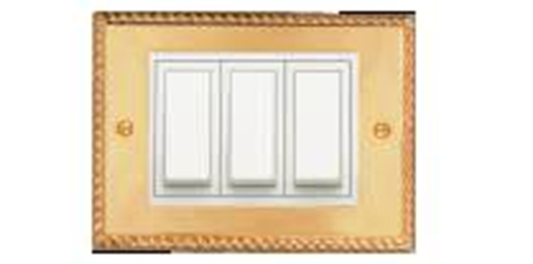 Roma Classic Gold Plates With White Frame