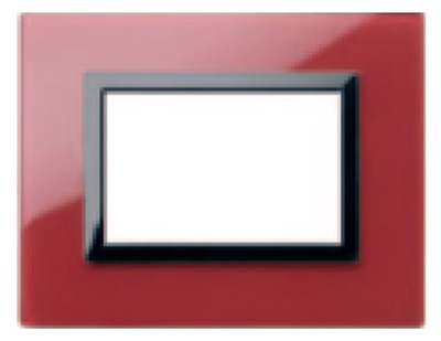 Glass clear pompeian  Red - RPL COVER PLATE