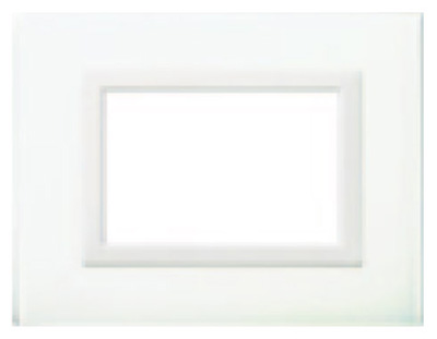 Glass clear white - BL cover plate