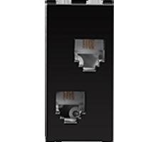 RJ11, Tel Jack, Double w/o Shutter, 1M
