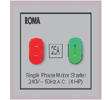 Roma Silver, 25A, Motor Starter Switch