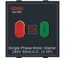 Roma Black, 25A, Motor Starter Switch