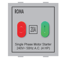 Roma Silver, 20A, Motor Starter Switch