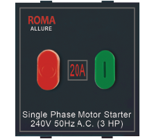 Roma Black, 20A, Motor Starter Switch