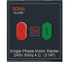 Roma Black, 20A, Motor Starter Switch