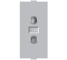 Roma Silver, 6A, 2 Pin Socket Round