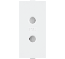 Roma, 6A, 2 Pin Socket Round