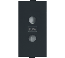 Roma Black, 6A, 2Pin Socket Round