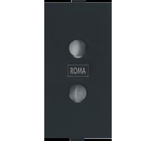 Roma Black, 6A, 2Pin Socket Round