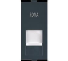 Roma Black, RJ 11, Telephone Jack Single With Shutter