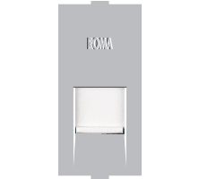 Roma Silver, RJ 11, Telephone Jack Single With Shutter
