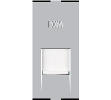 Roma Silver, RJ 11, Telephone Jack Single With Shutter