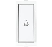 Roma White, 10A, Bell Push Switch with Neon