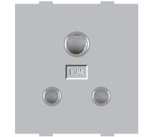 Roma Silver, 6A,  3 Pin Socket