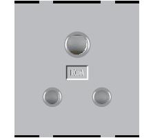 Roma Silver, 6A,  3 Pin Socket