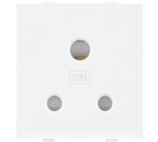Roma White, 6A, 3 Pin Socket with ISI