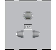 Roma Silver, 10A,  Uni D Socket