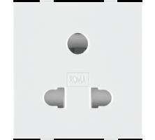 Roma White, 10A, Uni D Socket