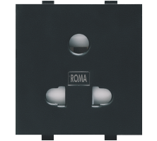 Roma Black, 10A, Uni D Socket