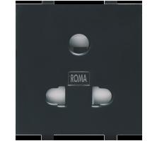 Roma Black, 10A, Uni D Socket