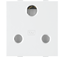 Roma White, 16 A, 3 Pin Socket(Heavy duty)