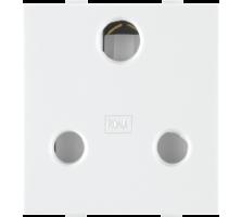 Roma White, 16 A, 3 Pin Socket(Heavy duty)