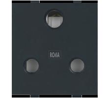 Roma Black, 16A, 3 Pin Socket