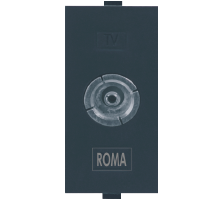Roma Black, T.V Socket Outlet Single
