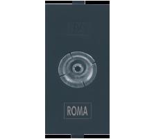 Roma Black, T.V Socket Outlet Single