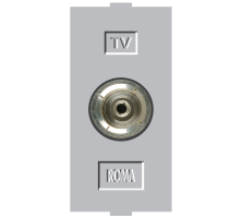 Roma Silver, T.V Socket Outlet Single