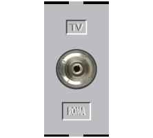 Roma Silver, T.V Socket Outlet Single