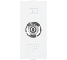 Roma White, T.V Socket Outlet Single