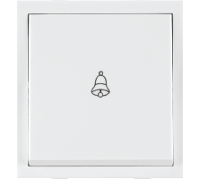 Roma White, 10A, Bell Push  Switch