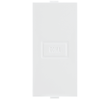 Roma White, Blank  Plate Single