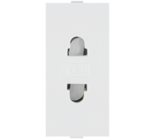 Roma White, 6A, URO 2 Pin Socket
