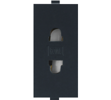 Roma Black,  6A, URO 2 Pin Socket
